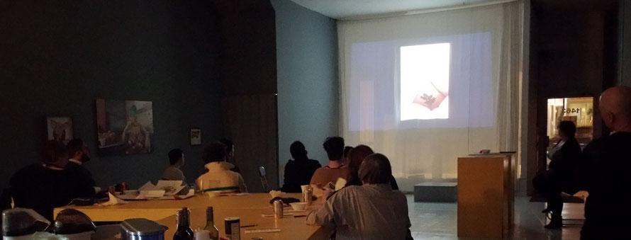 """Videoscreening """"FAT PIG"""", Foto: Andrea Decker"""