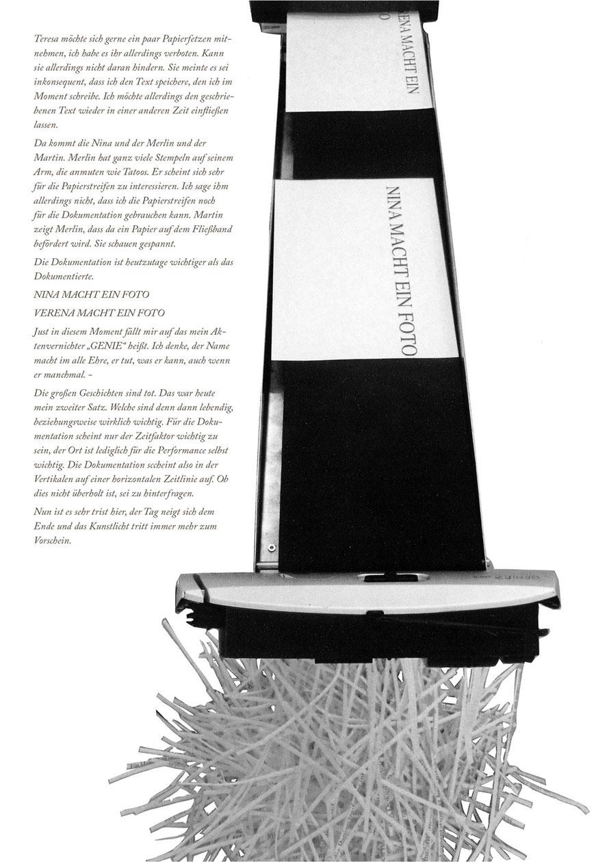 Collage, Performaning Documentation bei JENNYFAIR, 2011