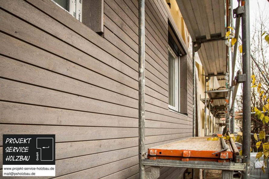 Arbeitsvorbereitung Holzrahmenbau für die energetische Ertüchtigung eines 12 WE Wohnblocks