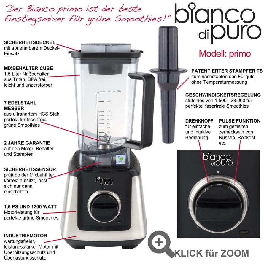 Bianco Primo Hochleistungsmixer für grüne Smoothies