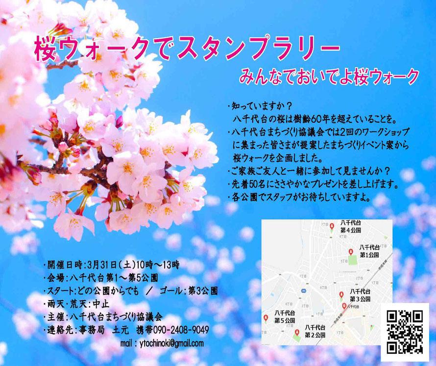 桜ウォークポスター