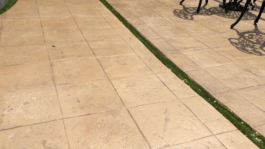 コニファー タフテックス 評判 口コミ デザインコンクリート スタンプコンクリート ステンシルコンクリート エクステリア 庭 外構 画像