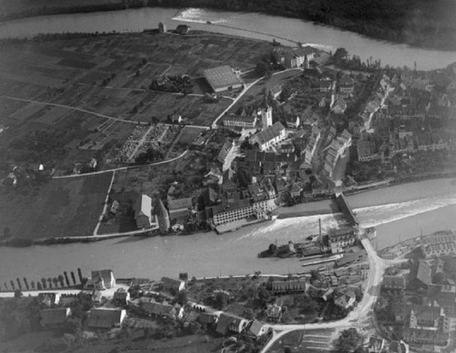 Undatiertes Luftbild von Bremgarten AG