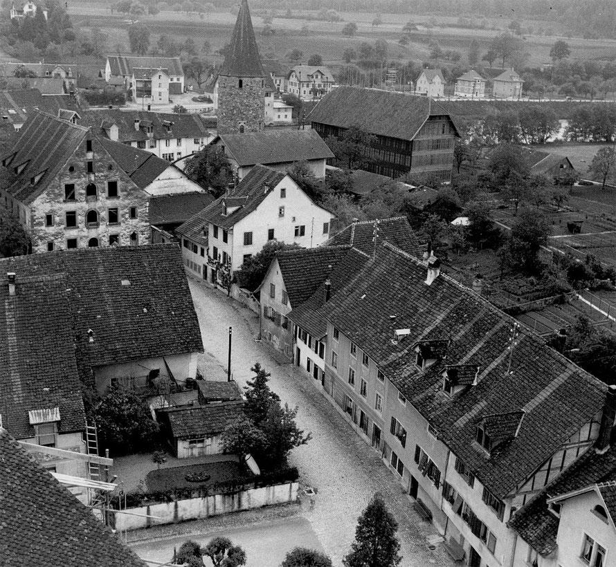 Blick auf die Unterstadt vom Kirchturm der Klosterkirche von 1944