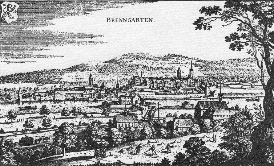 Stich nach Merian von Bremgarten um 1644