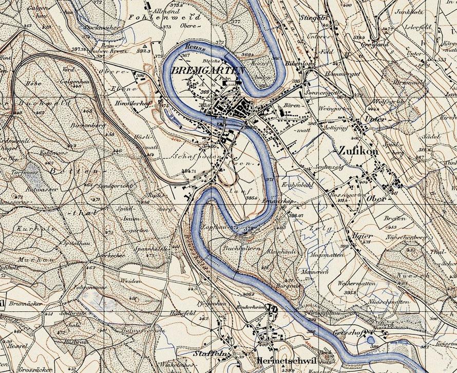 Ausschnitt Siegfriedkarte von 1940