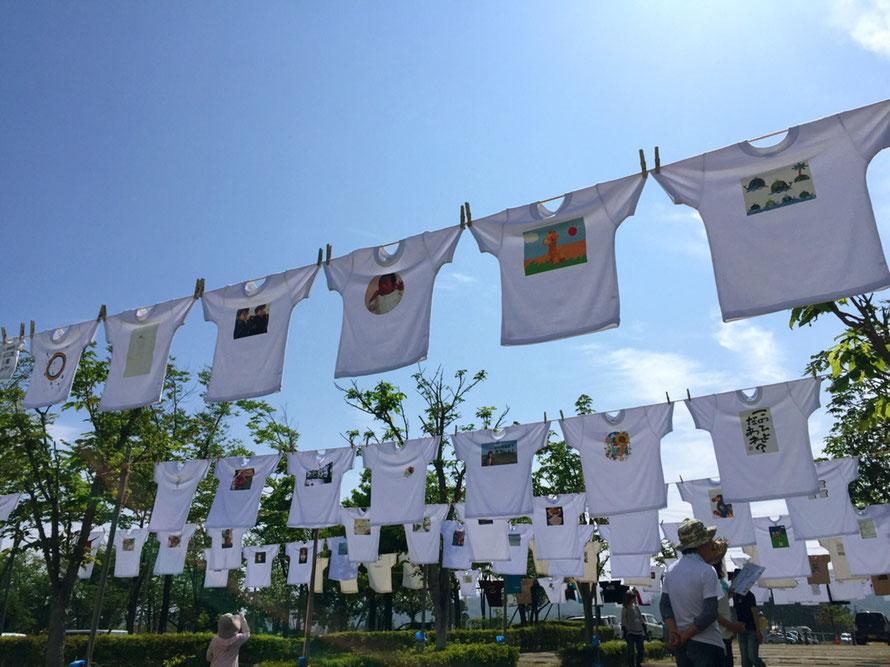第2回富山Tシャツアート展の様子