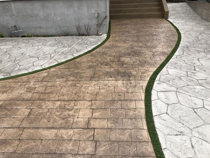 デザインコンクリート スタンプコンクリート ファンタジーコンクリート ステンシルコンクリート モルタル造形