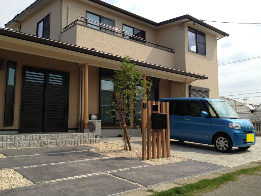 コニファー タフテックス 評判 口コミ デザインコンクリート スタンプコンクリート 庭 外構 エクステリア