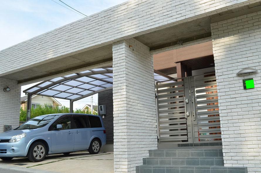 ガーデニング ガーデン エクステリア 外構工事 外溝 門 駐車場 フェンス カーポート 庭 塀