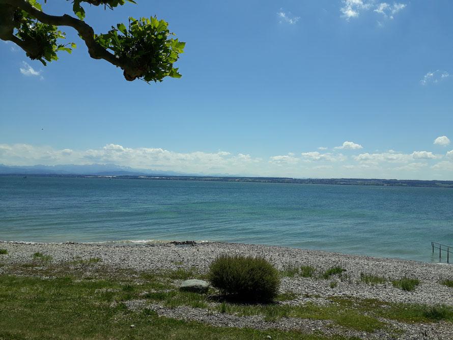 Nur wenige Schritte bis zum Strand und Promenade von Hagnau am Bodensee