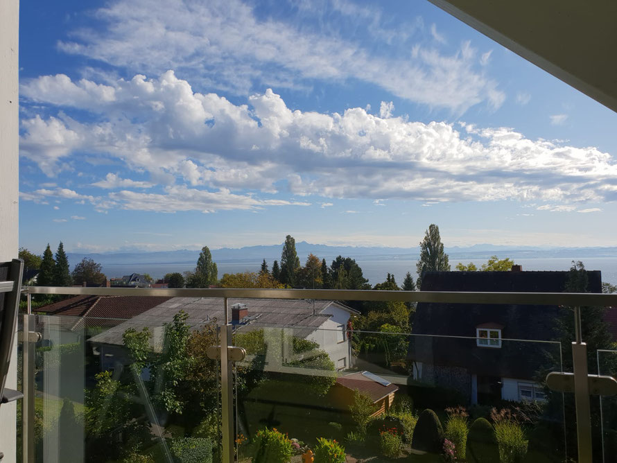 Bild: Seeblick Balkon Fewo 7 im Haus Melanie in Hagnau am Bodensee