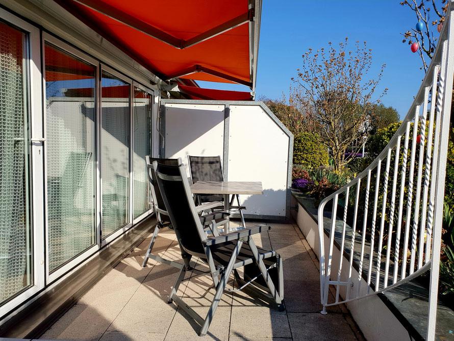 Bild: Terrasse Fewo 1 im Haus Annette in Hagnau am Bodensee