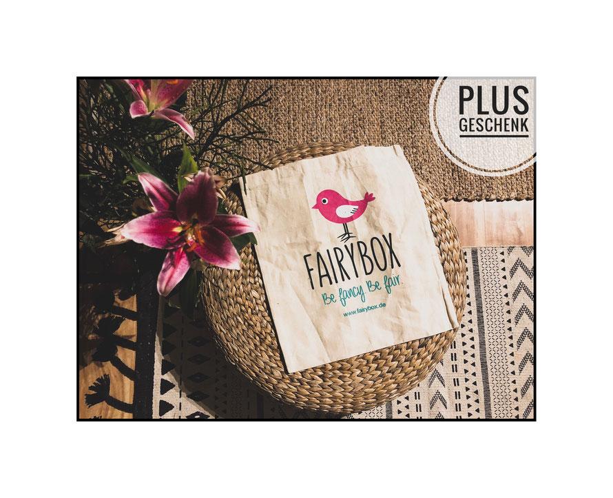 Zusätzliches Geschenk: Fairybox Stofftasche