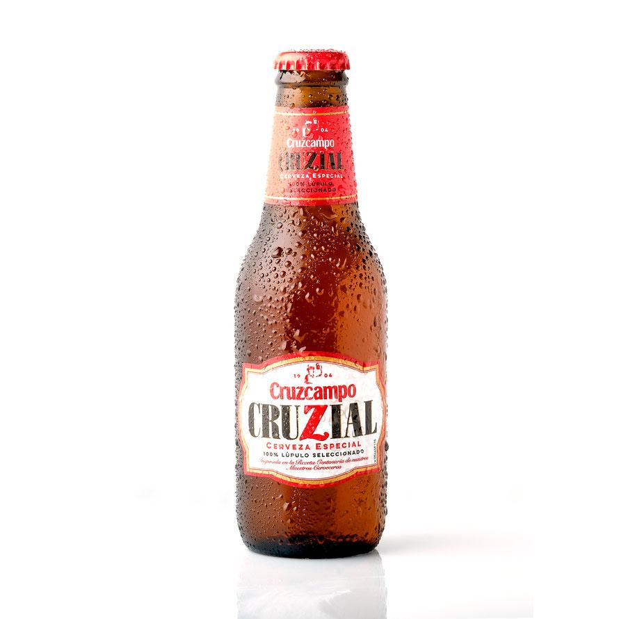 Fotografia de Producto. Cruzcampo Cruzial Botella de 20 cl.