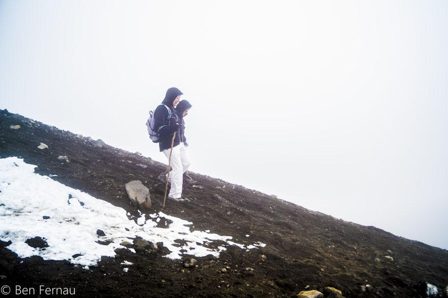 Teilweise bestand der Abstieg eher aus rutschen als aus laufen