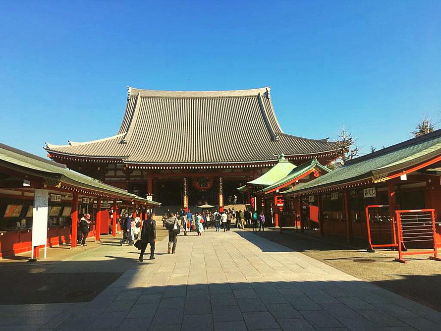 Der Senso-ji Tempel, spirituelles Zentrum in Asakusa