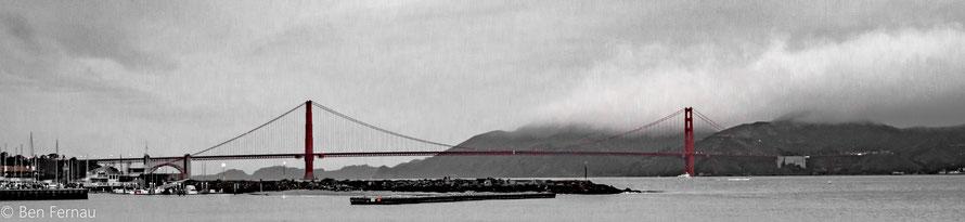 Leider schaffte ich es nicht ganz bis zur Golden Gate Bridge aber eine nette Sicht hatte ich trotzdem.