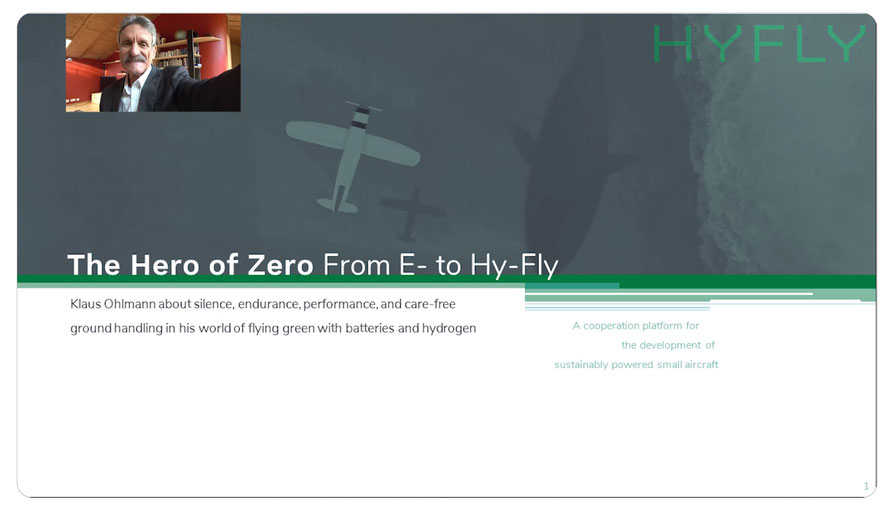 Weltrekord-Pilot Klaus Ohlmann präsentiert HYFLY auf dem eFlight-Forum in China - zum Vortrrag: