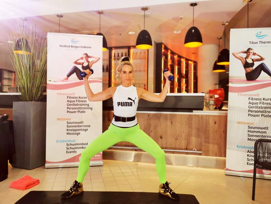 Jane Uhlig, Body Complete Livestream Youtube Frankfurter Bäder, Foto: Holger Klyszcz