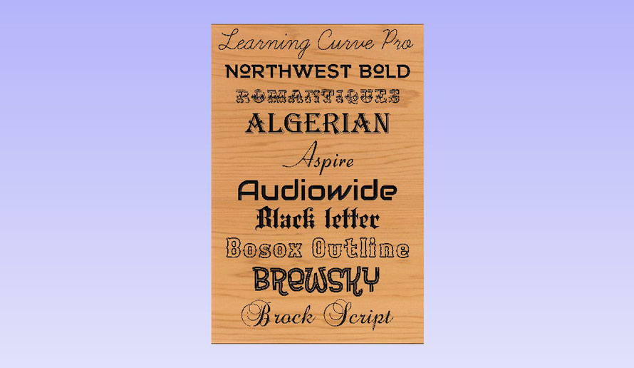 Here are some popular font choices: - Wooden Signs