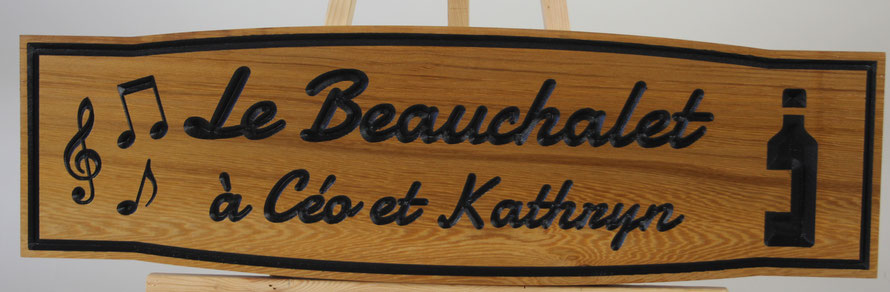 """F034 Select Western Red Cedar 7x23""""  Font: Damion"""