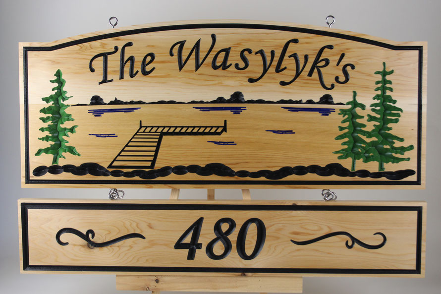 """F003 Select Western Red Cedar 14x34"""" and 6.5x34"""" Font Monotype Corsiva"""