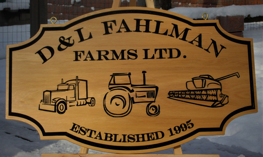 2.7 Square Foot Select Cedar Sign with Engraved Artwork by ArtfulCarver.com
