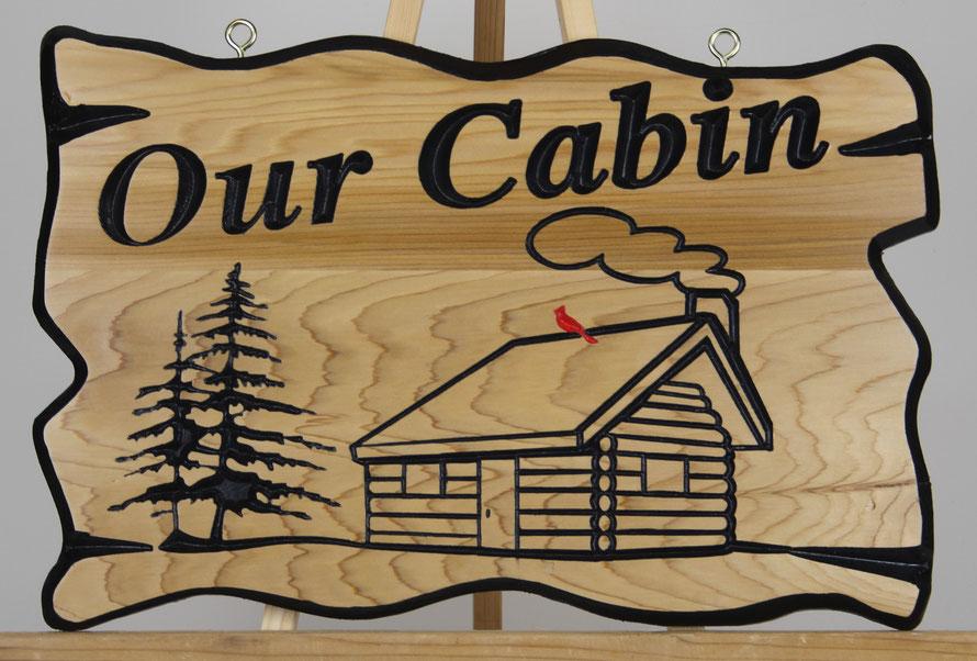 """F050 Select Western Red Cedar 12x18""""  Font: Cardiff Bold Italic"""