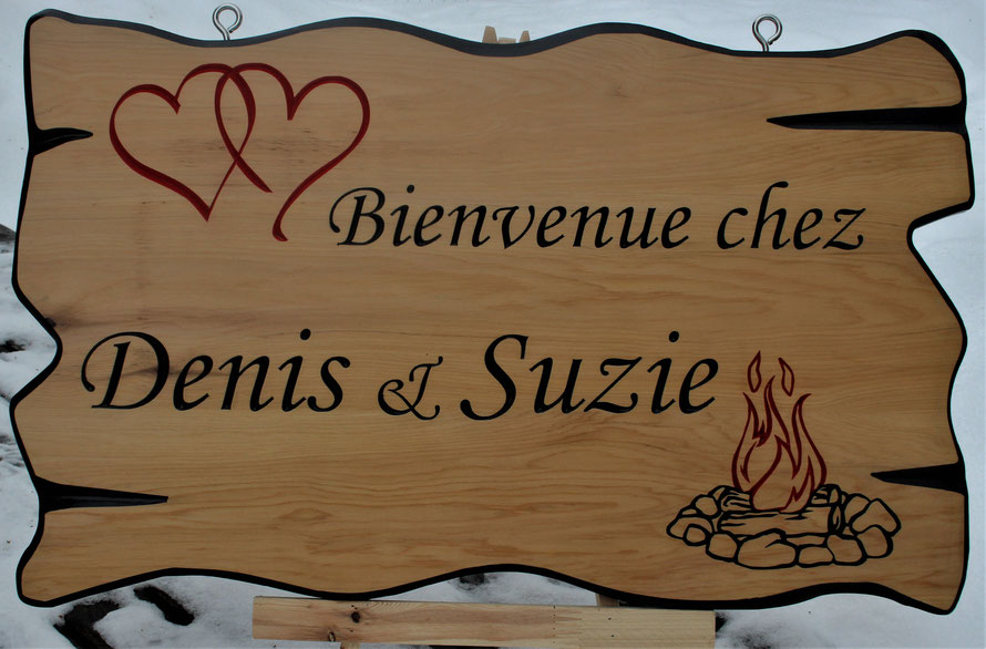 4 Square Foot Select Cedar Sign with Engraved Artwork by ArtfulCarver.com