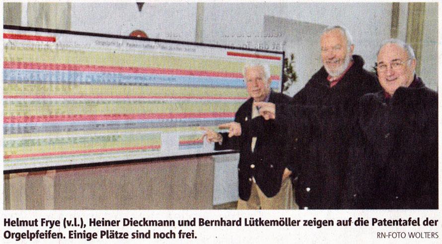 Orgelpfeifenpatentafel - RN-Foto Wolters