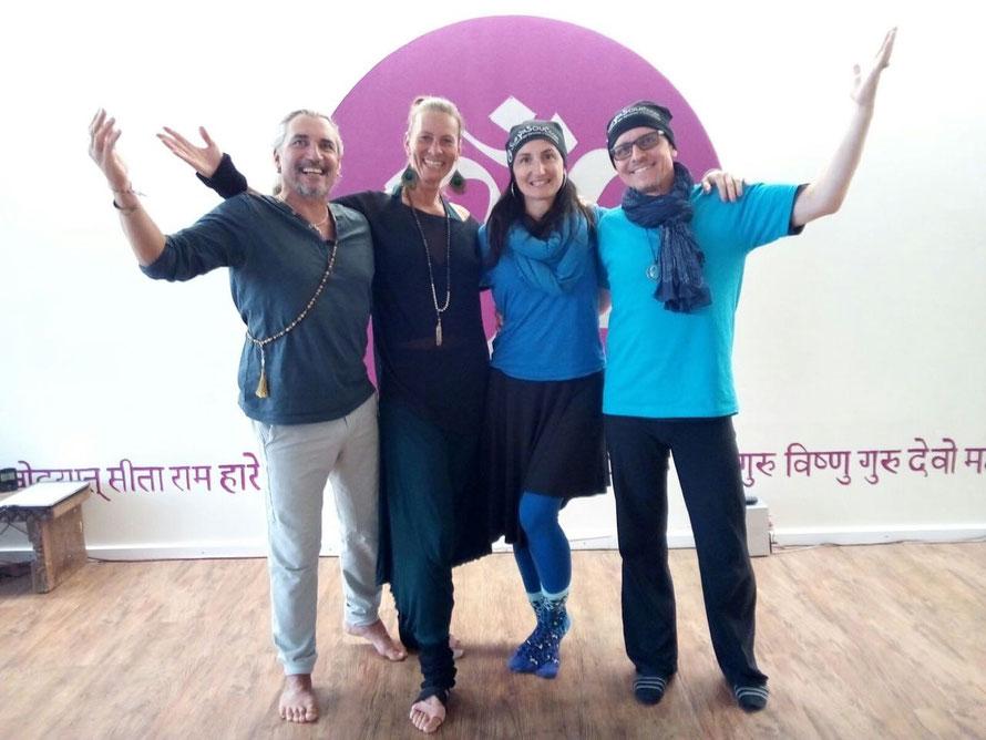 SuryaSoul® Creators Philippe Beaufour & Sabine Zweig mit Nadia Damonte (A) und Karlheinz Schnell (D) zwei der ersten Surya Soul® Soma Teacher.