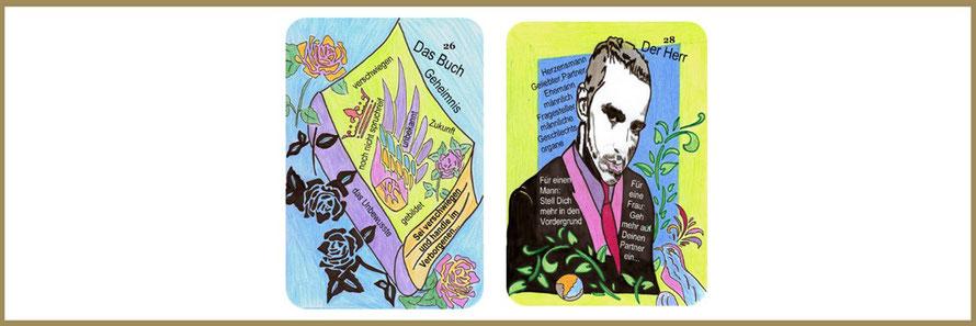 Buch und Herrenkarte Lenormandwahrsagekarten