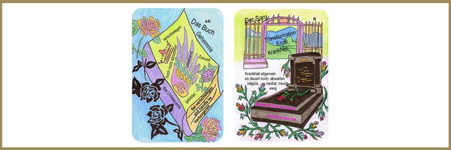 Buch und Sarg Lenormandkarten