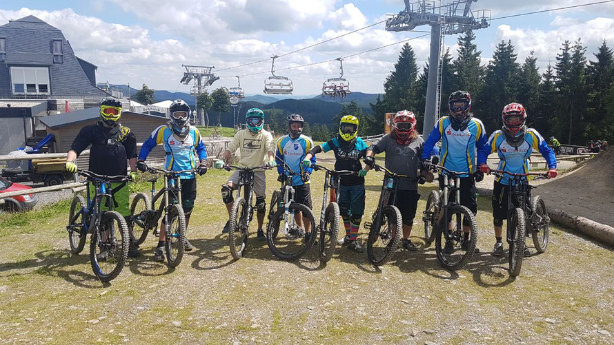 Trainingsfahrt Bikepark Winterberg im August 2017