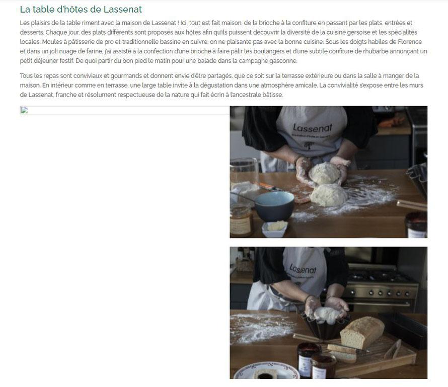 La table d'hôtes de Lassenat Les plaisirs de la table riment avec la maison de Lassenat ! Ici, tout est fait maison, de la brioche à la confiture en passant par les plats, entrées et desserts.