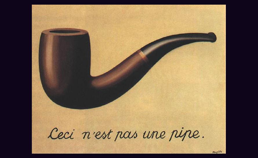Gemälde (bzw. bloss ein Bild des Gemäldes ;)) 'La trahison des images' von René Magritte
