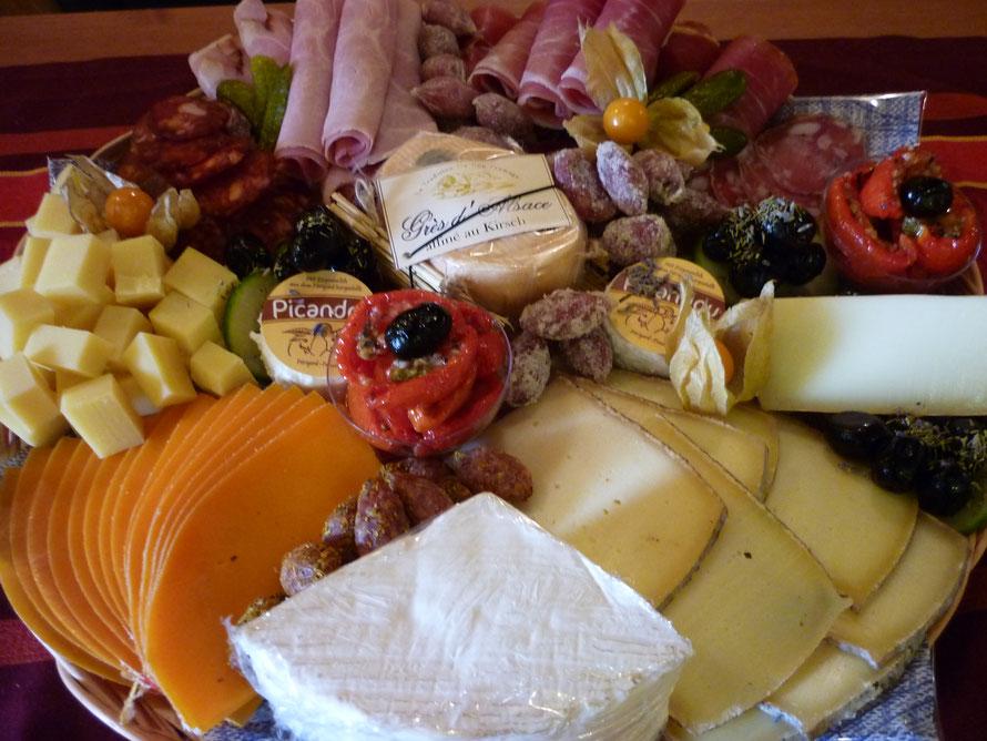Käse- und/oder Wurstplatte für jeden Anlass