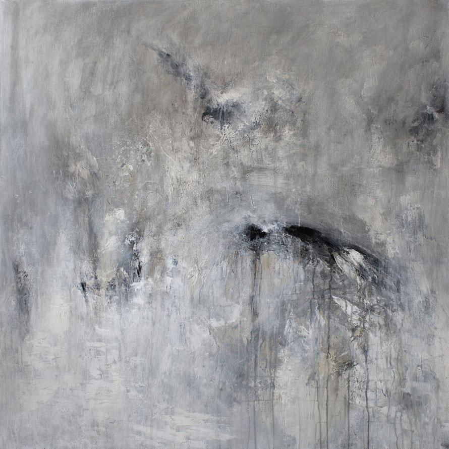 o.T 2014-11 | Acryl auf Leinwand | 100x100cm | www.sascha-dettbarn.de