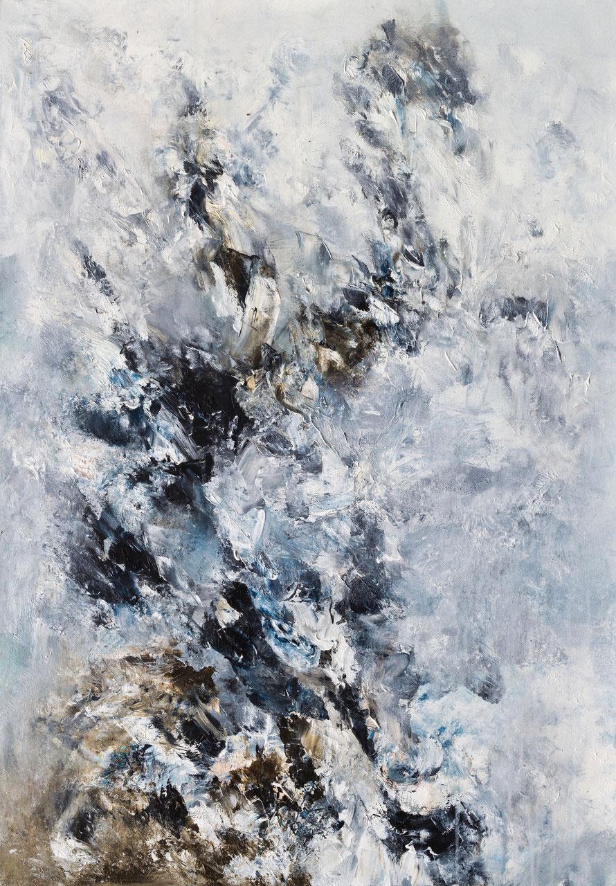 o.T 2015-12 | Acryl auf Leinwand | 100x70 cm | www.sascha-dettbarn.de