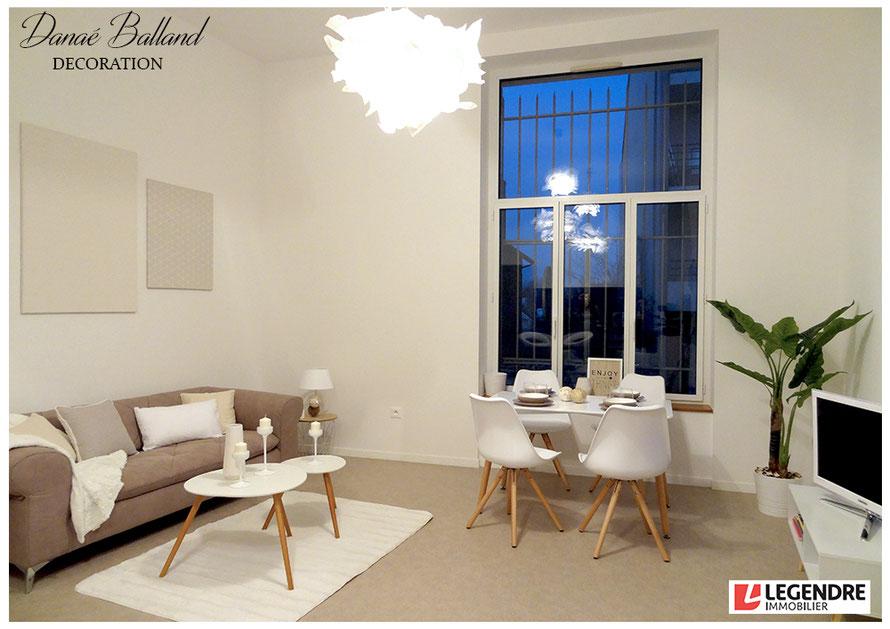 Décoration appartement témoin location mobilier Danaé Balland