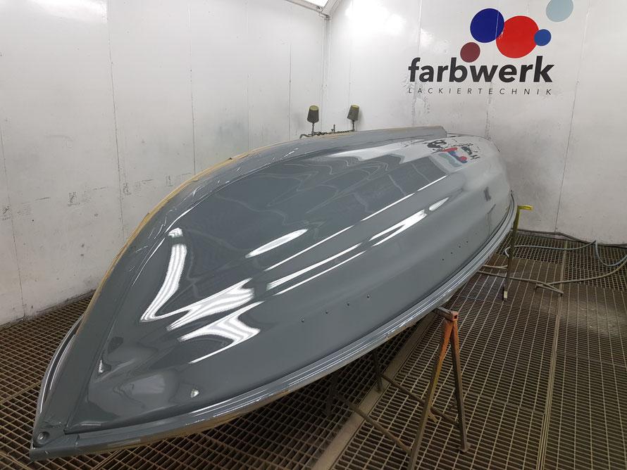 """""""Die Maus"""" Linder 440/410 Fishing Farbton RAL 7043 Verkehrsgrau"""