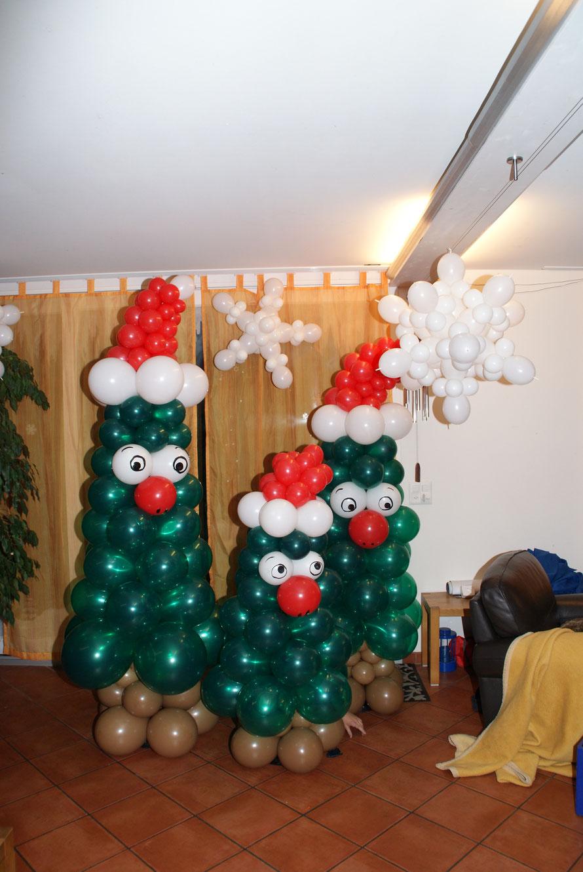 Ballon Weihnachtsbaum Ballon Schneesterne