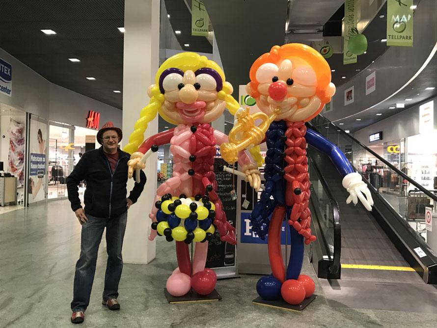 Ballon Twisten Karneval Clowns Mr.Balloni Katzenmusik