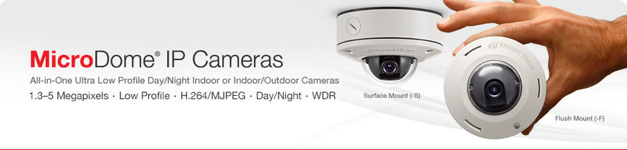 Micro Dome® IP Kamera von Arecont Vision, presented by SafeTech