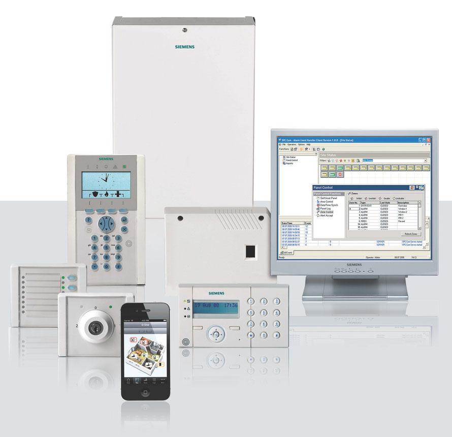 Siemens SPC Alarmzentralen Komponenten, presented by SafeTech