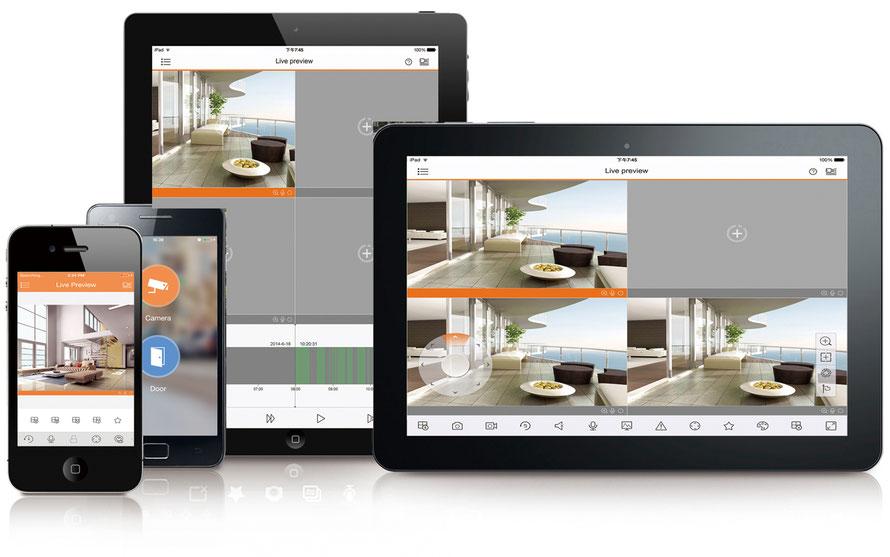 SafeTech Überwachungsmöglichkeiten von HD-CVI Kameras und Rekordern