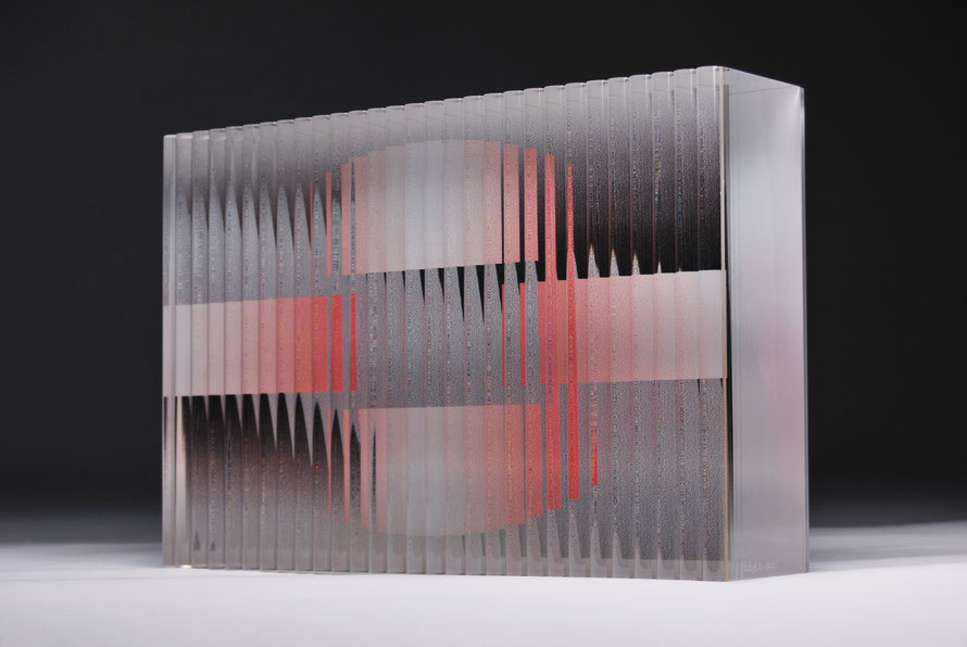 Bridge | cut, ground, glued, printed, hand polished glass | 30 x 20 x 7 cm | 2015