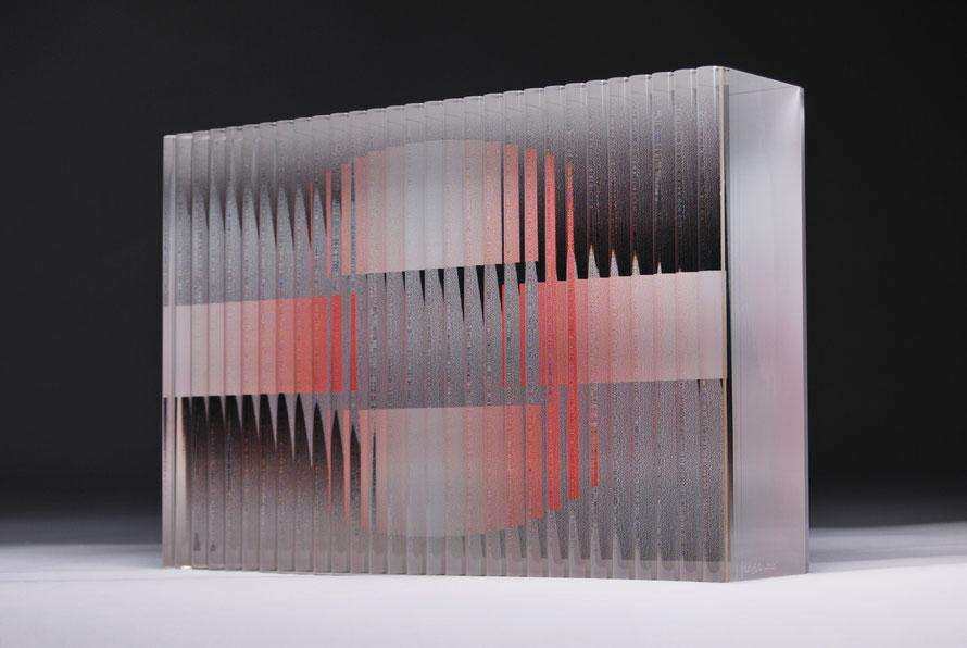 Bridge | cut, ground, glued, printed, hand polished glass | 30 x 20 x 7 cm | 2015
