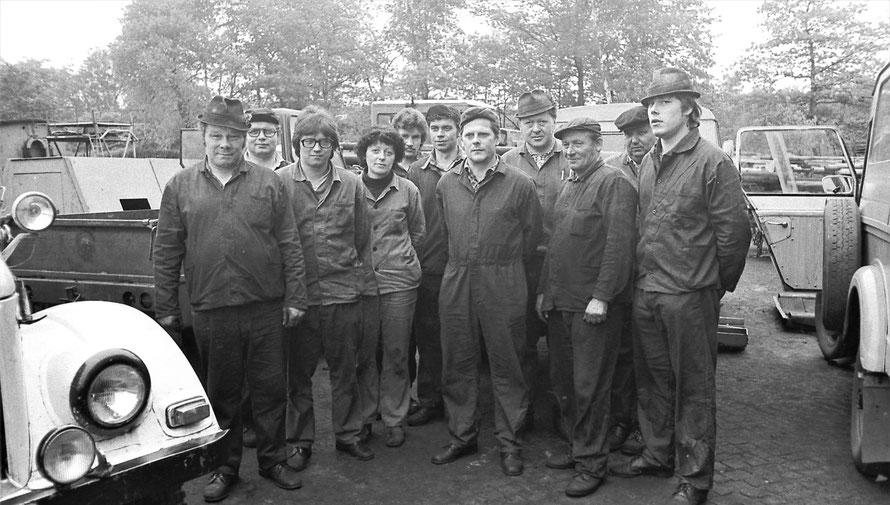 Belegschaft Dieselwerkstatt
